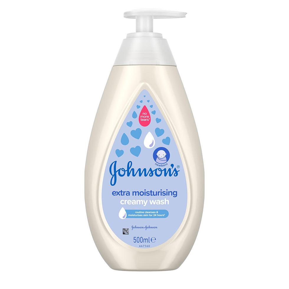 Johnson's изключително овлажняващ кремообразен душ гел
